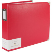 12 X 12 D-ring - Classic Faux Leather - Cherry