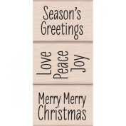 Merry Merry Christmas Wood Stamp