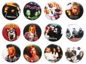 NIRVANA Kurt (2) Awesome Quality Lot 12 New Pins Pinback Button Badge 3.2cm