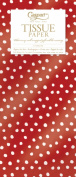 Entertaining with Caspari Tissue Paper, Small Dots Red, 4-Sheets