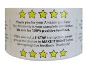 One Roll Of Amazon Feedback/Thank you For Your Purchase Labels With 250 Labels 5.1cm by 7.6cm