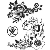 Floral Blossoms Rubber Stamp Basic Grey // Hero Arts