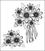 Heartfelt Creations Cling Rubber Stamp Set 13cm x 21cm Daisy Patch Bouquet