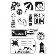 Paradise Repositionable Clear Stamps // Hero Arts