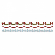 Sizzix Sizzlits Decorative Strip Die by Tim Holtz-Holly, Beaded and Snowflake Garlands