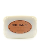 Tsukineko Brilliance Archival Pigment Ink pearlescent cosmic copper 9.5cm . x 6.7cm . pad [PACK OF 2 ]