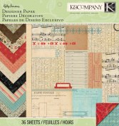 K & Company Designer Paper Pad, Kelly Panacci Eclectic, 30cm by 30cm