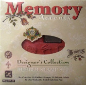 Designer's Collection Memory Accents Rubber Stamp Set