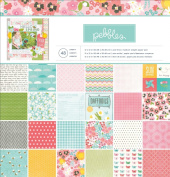 Pebbles 48-Sheet Garden Party Paper Pad, 30cm by 30cm