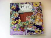 Victorian Pansies Rubber 7 Pc Stamp Kit By Cynthia Hart