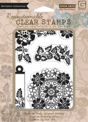 Hero Arts Rubber Stamps Flower Star Wreath PolyClear Stamps