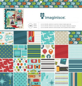American Crafts 48 Sheets Imaginisce Perfect Vacation Paper Pad, 30cm by 30cm