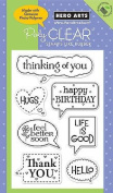 Messsage Bubbles - Clear Rubber Stamps