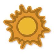 Accucut Zip'eSnap Die - Sun