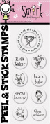 PSA Essentials Peel and Stick Stamps, Smirk Sports Babes