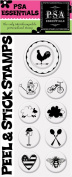 PSA Essentials Peel and Stick Stamps, Country Home