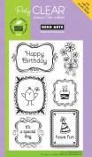 Hero Arts Birthday Frames Polyclear Stamp Set