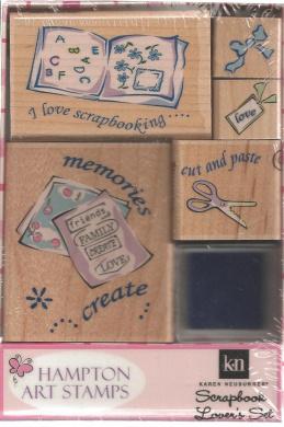 Karen Neuburger Scrapbook Lover's Wood Mounted Rubber Stamp Set (2398)