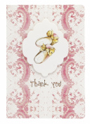 C.R. Gibson 10 Count Cid Pear Boxed Thank You Note Cards, Baby Slippers