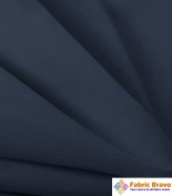 Navy Blue 150cm Wide Premium Poly Cotton Broadcloth Fabric By the Yard