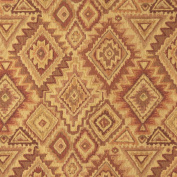 140cm E100 Southwestern, Navajo, Lodge Style Upholstery Grade Fabric By The Yard