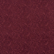 140cm E572 Burgundy, Paisley Jacquard Upholstery Grade Fabric By The Yard
