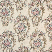 140cm Wide B773 Burgundy, Green And Blue, Floral Tapestry Upholstery Fabric By The Yard