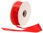 Offray Single Face Satin Craft 2.2cm by 100-Yard Ribbon Spool, Red