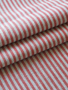 Red Striped Linen Fabric Jazz