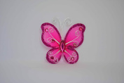 144pc 5.1cm Nylon Butterflies-FUCHSIA or Your Choice of Colours