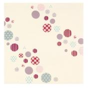 Diagram White Japanese Kimono Print Chirimen Furoshiki Cloth