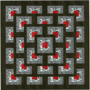Easy Quilt Kit Boxed Maze!! Red, Black, White