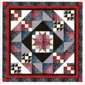 Easy Quilt Star Medallion Red/Black/White Paisley