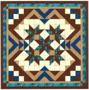 Easy Quilt Kit Heavens Variation Blue/Brown