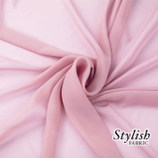 150cm LT PINK Solid Colour Sheer Chiffon Fabric by the Bolt - 25 Yards