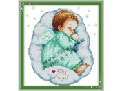 Happy Forever Cross Stitch,Figure,The sleeping angel,boy 1