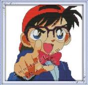 Happy Forever Cross Stitch, Cartoon, Conan