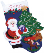 Santa's Gift Stocking Felt Applique Kit