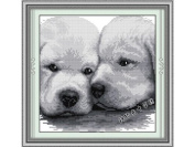 Happy Forever Cross Stitch, Animals dogs, Rely on each other
