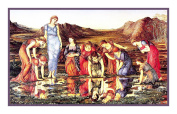 The Mirror of Venus by Arts and Crafts Edward Burne-Jones Counted Cross Stitch Chart
