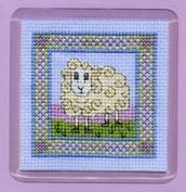 Textile Heritage Coaster Kit - Wee Woolly Sheep