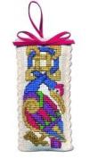 Textile Heritage Lavender Sachet Counted Cross Stitch Kit - Celtic Bird