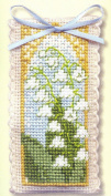 Textile Heritage Lavender Sachet Counted Cross Stitch Kit - Lily of the Valley