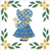 Herrschners Sweet Little Girl Quilt Blocks Stamped Cross-Stitch Kit