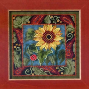 Sunflower - Beaded Cross Stitch Kit MH143201 - Buttons & Beads 2013 Autumn