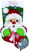 Santa's Present Stocking Felt Applique Kit-46cm Long