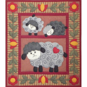 Rachel's Of Greenfield 33cm by 38cm Twin Lambs Quilt Kit