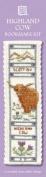 Highland Cow Bookmark Cross Stitch Kit