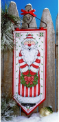 Design Works Counted Cross Stitch Kit - Santa Banner