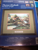 Thomas Kinkade Lamplight Village Spring Cross Stitch Kit